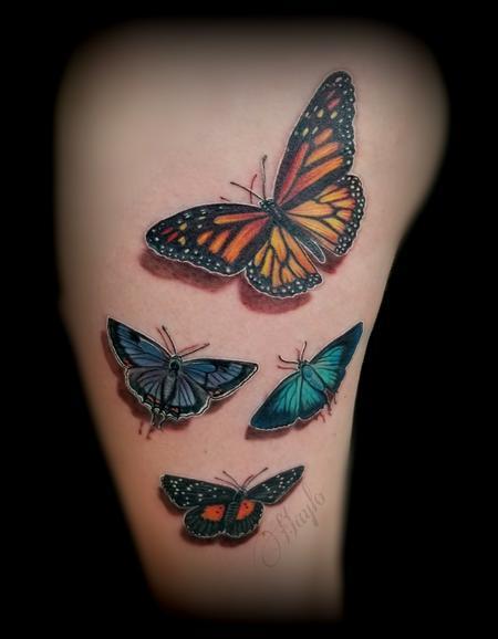 3D butterfly tattoo Design Thumbnail