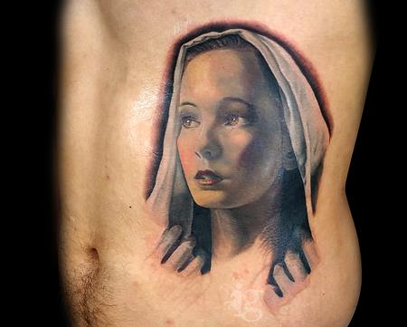 The Virgin Mary portrait tattoo by Haylo Design Thumbnail