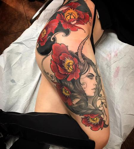Tattoos - Poppies and enchantress, ties into a full back - 126869