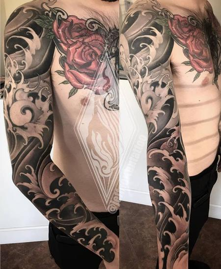 Tattoos - Wave sleeve - 131373