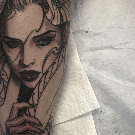 Tattoos - Virgin mary in progress - 131375