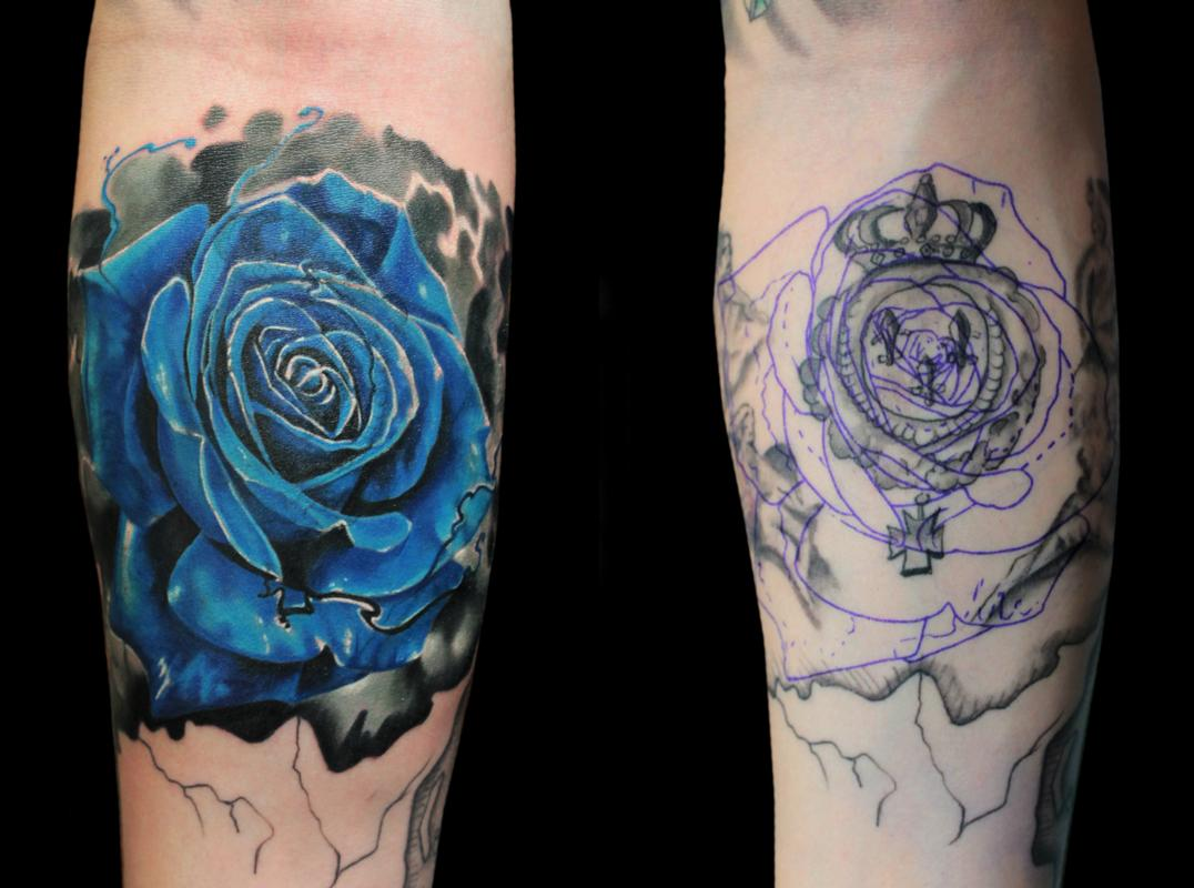 Blue rose cover up by jhon gutti tattoonow jhon gutti blue rose cover up izmirmasajfo