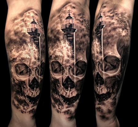 Tattoos - Skull/Lighthouse  - 134755