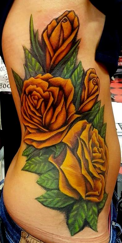 Yellow Roses Tattoo by Jesse Neumann: TattooNOW :