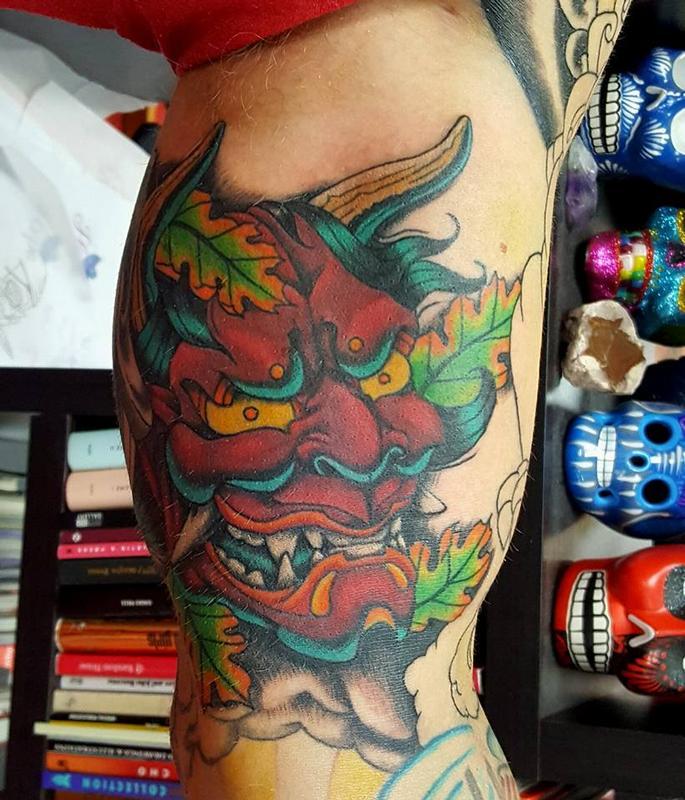 84ae58e07 Hannya Mask by Jesse Neumann: TattooNOW :