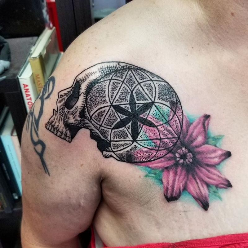 fcbdba6f3 Seed of Life Skull Tattoo by Jesse Neumann: TattooNOW :