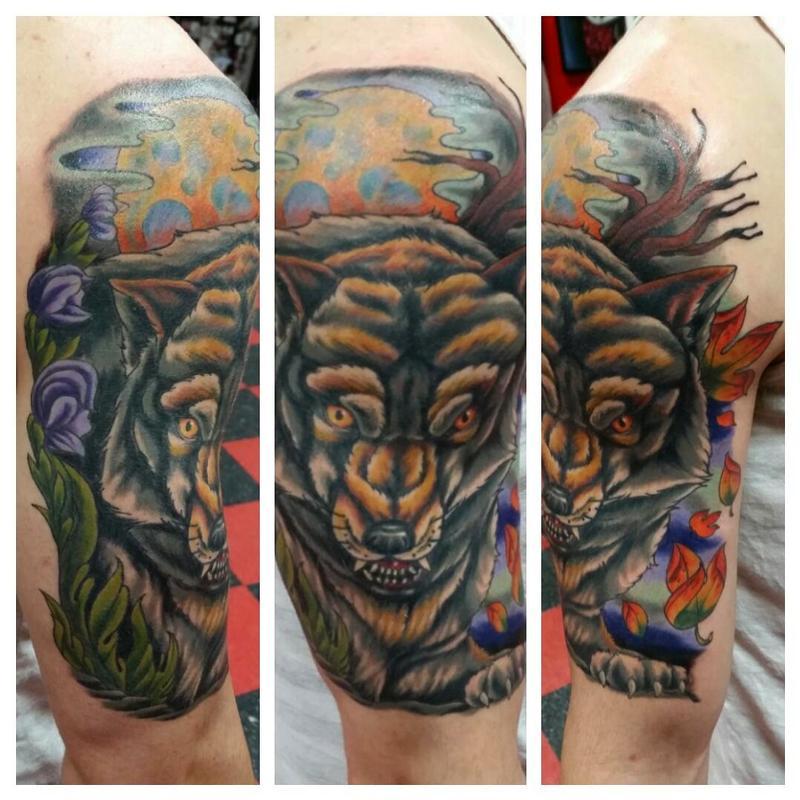 ddbfd78d4 Wolf Tattoo by Jesse Neumann: TattooNOW :
