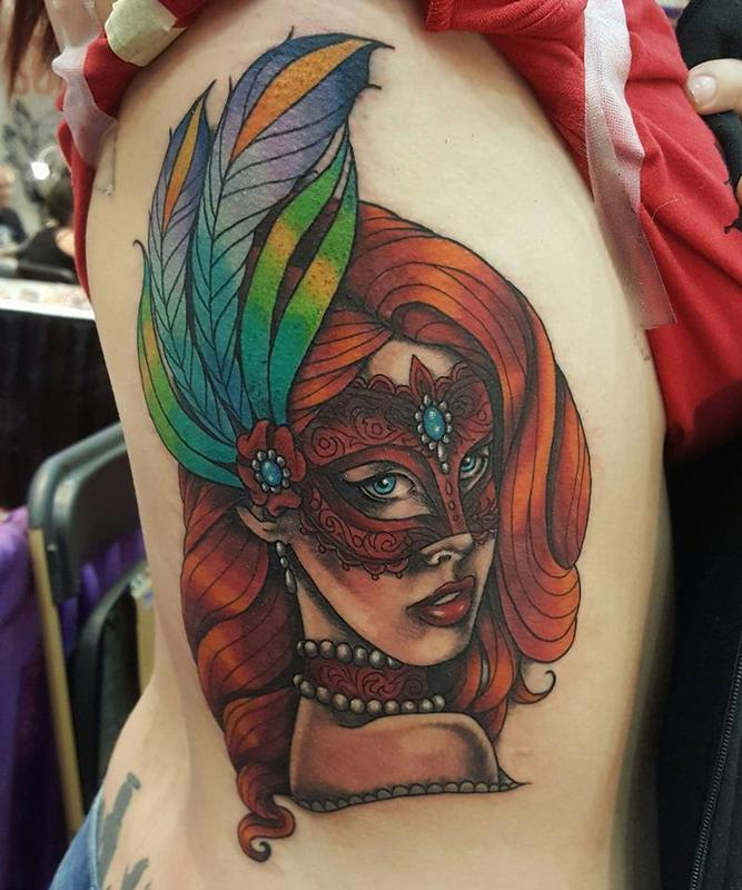 Masquerade Mask Woman By Jesse Neumann TattooNOW