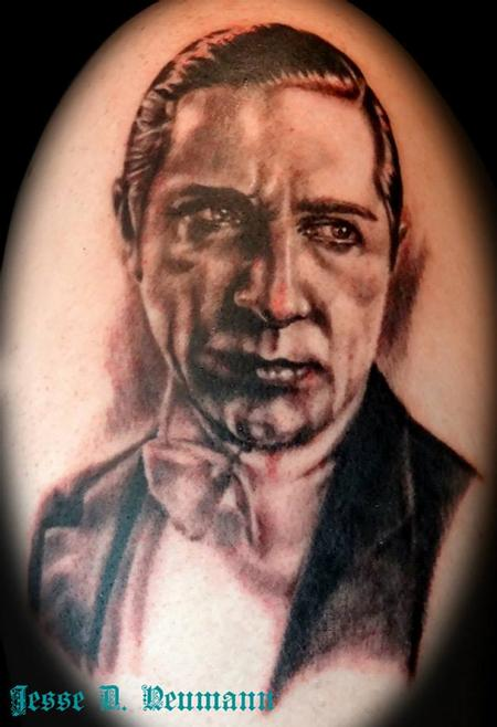 Tattoos - Bela Lugosi Portrait Tattoo - 91667