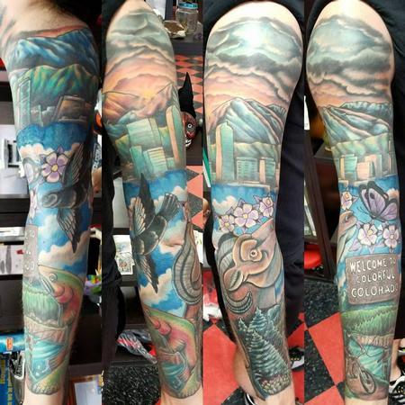 Tattoos - Colorado sleeve tattoo - 133434
