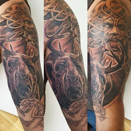 Tattoos - Celtic Gods and Monsters Sleeve Tattoo - 131746
