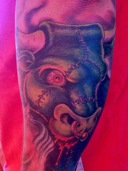 Tattoos - Franken-Bull Monster Tattoo  - 116818
