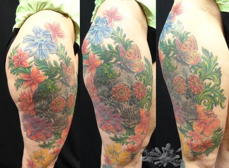 Tattoos - Nature Skull - 102297
