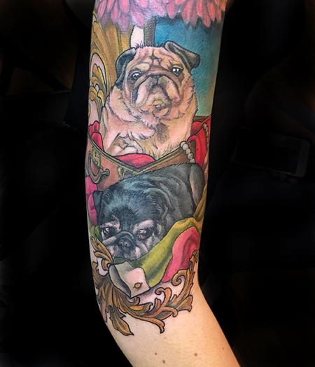 Tattoos - Two Little Pugs - 132583