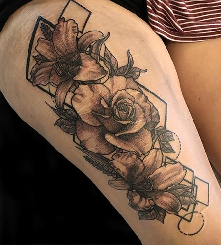 Tattoos - Flower Coverup  - 132585