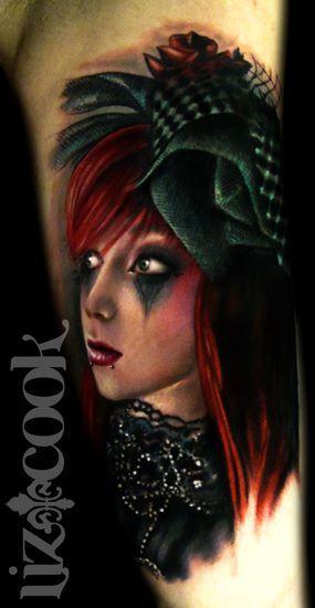 Tattoos - Goth Glam Portrait - 62611
