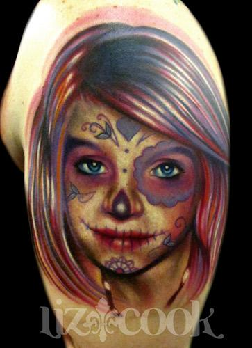 Tattoos - Day of the dead portrait. - 63445