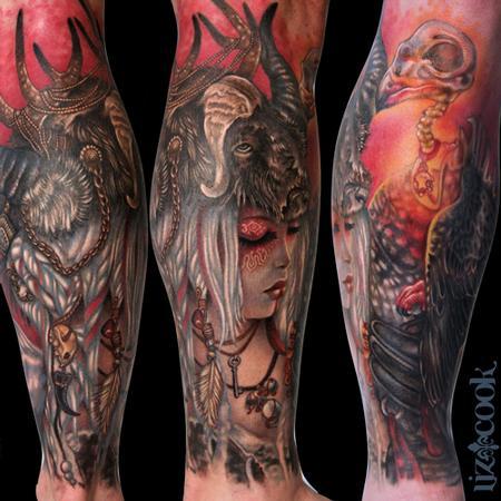 Tattoos - Headdress Girl (Fully Healed) - 84035