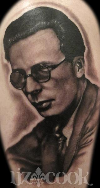 Tattoos - Aldous Huxley Portrait - 69634