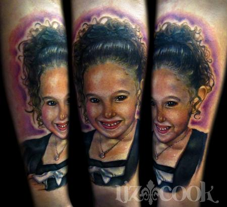 Tattoos - Mike's Daughter-Color Portrait  - 63156