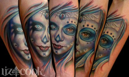 Tattoos - Ninja's Marilyn Manson Day of Dead Portrait - 63180