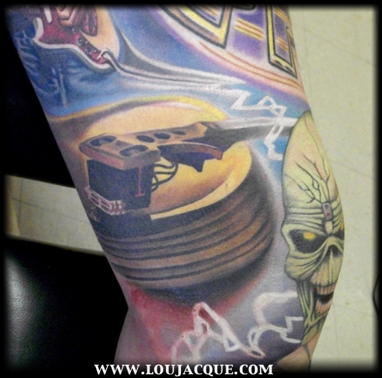 Gold Record By Lou Jacque TattooNOW