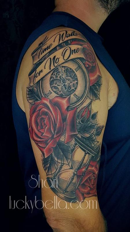 Tattoos - Time Pieces and Roses  - 134641