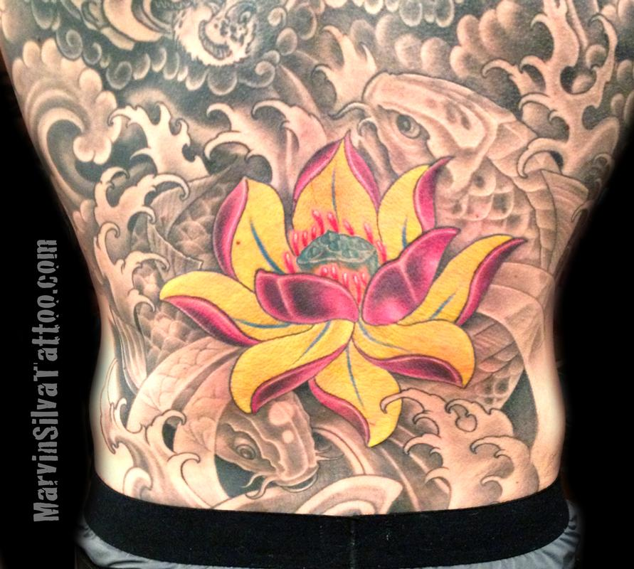 Lotus flower and koi fish tattoo by marvin silva tattoonow marvin silva lotus flower and koi fish tattoo mightylinksfo