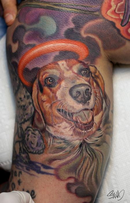 Tattoos - Dog Portrait Tattoo - 95309