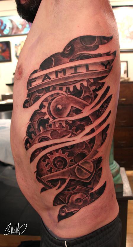 Marvin Silva - Custom Cogs and Gears Tattoo