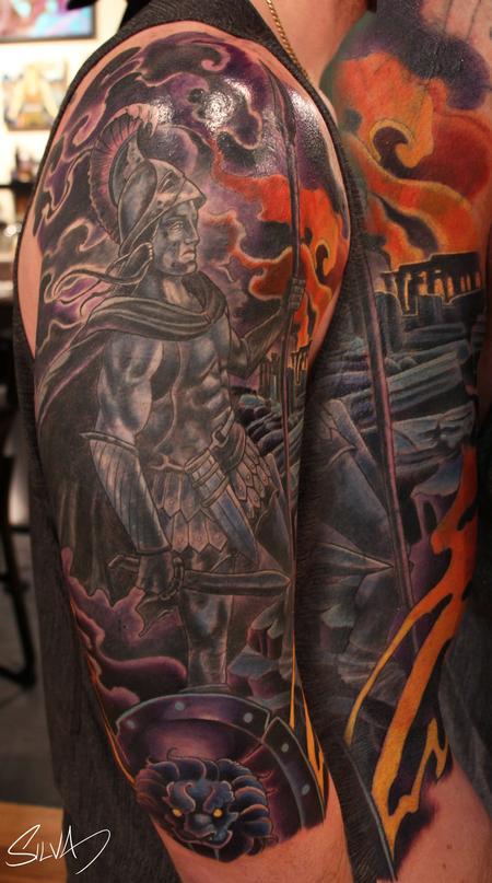 Custom Ares God Of War Tattoo By Marvin Silva Tattoonow