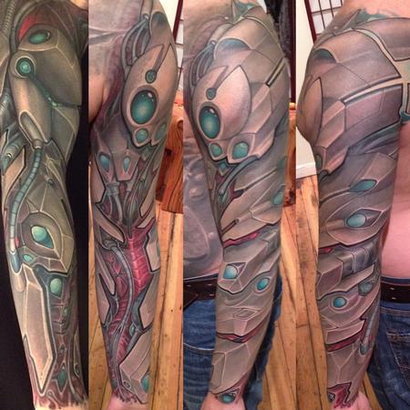 Matt Driscoll - Bio mechanical fullsleeve tattoo