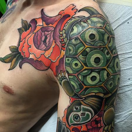 Tattoos - Turtle cover up  - 104126