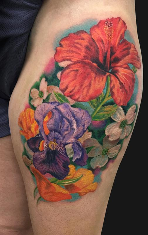 Flower Bouquet Tattoo by Jamie Lee Parker: TattooNOW :