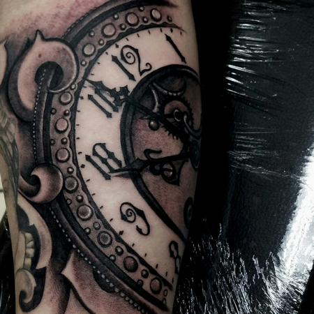Tattoos - clock time piece tattoo - 128168