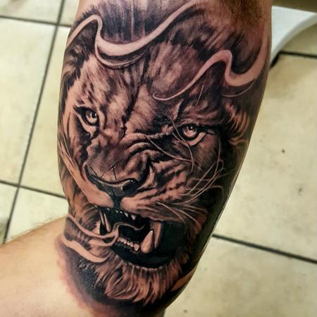Tattoos - Lion tattoo portrait - 128188