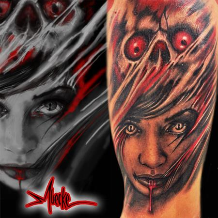 Tattoos - Muecke skull cap girl tattoo - 91451