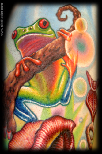 Nick Baxter - Tree Frog (Detail)