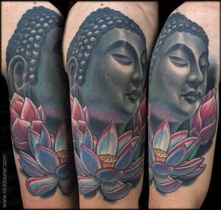 Nick Baxter - Buddha and Three Lotuses