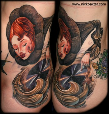 Tattoos - phonograph girl - 48070