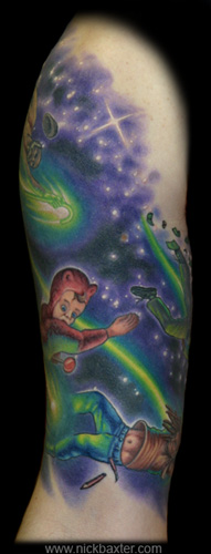 Nick Baxter - Shooting Stars Half sleeve (Front)