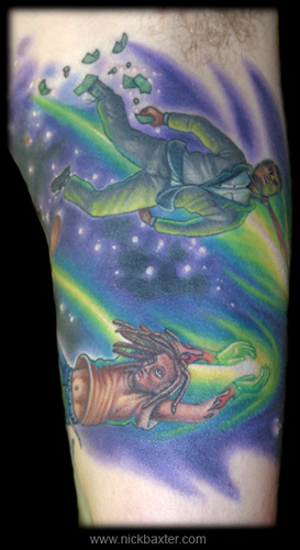 Nick Baxter - Shooting Stars Half sleeve (Inside)