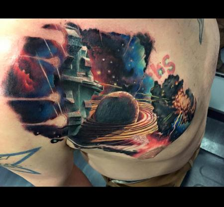 Tattoos - Sci-Fi outer space cover up - 101624