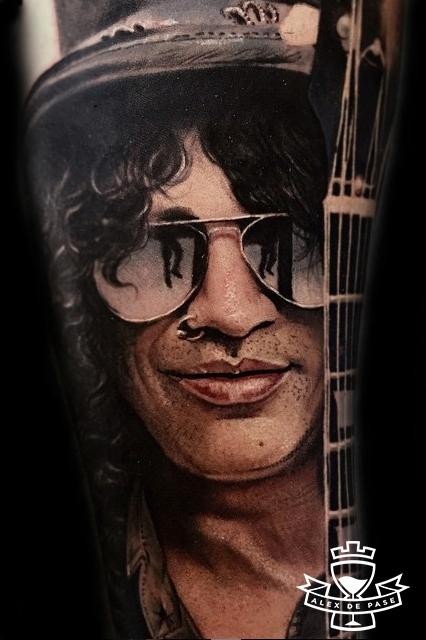 Alex De Pase - Slash with glasses and guitar