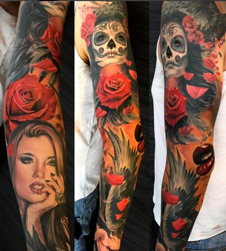 Alex De Pase - Alex De Pase full sleeve with Katrina