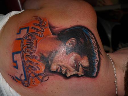 Elvis in Bronco Jersey