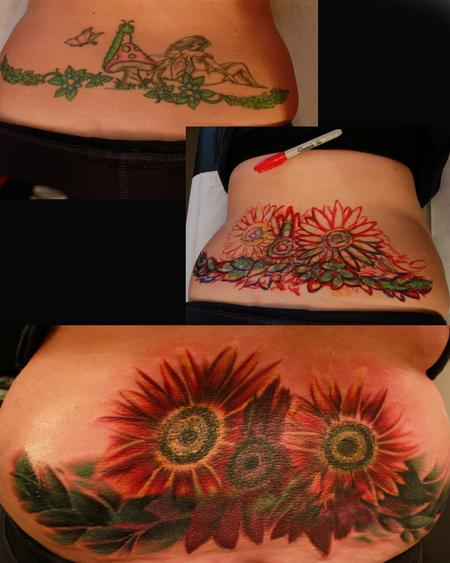 Tattoos - Sunflowers - 114248