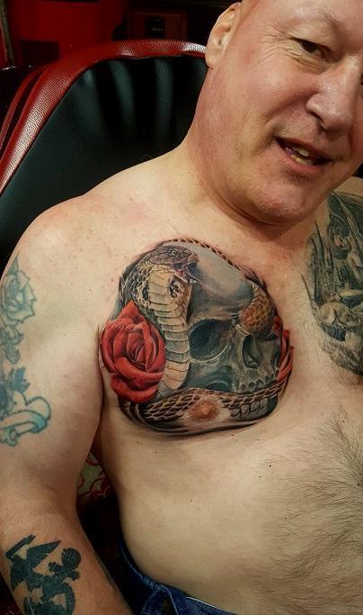 Manny Almonte - skull and snake