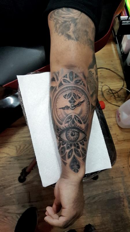 Tattoos - clock and eye - 132235