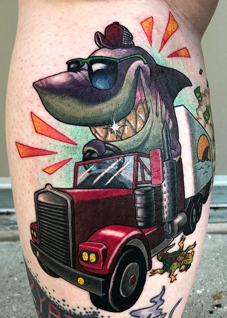 Trucker Shark Design Thumbnail